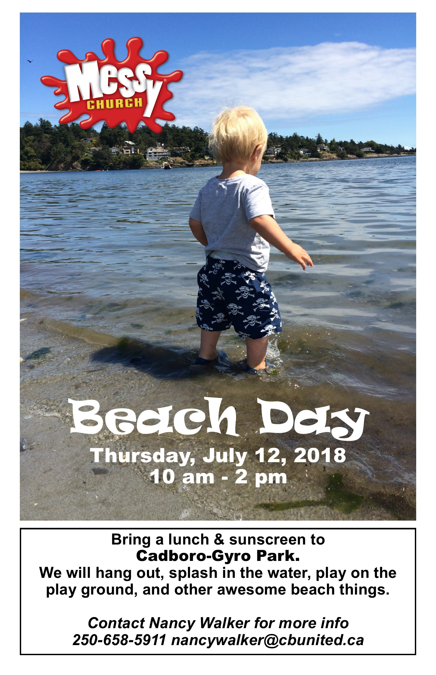 Messy Church Beach Day Ledger 2018